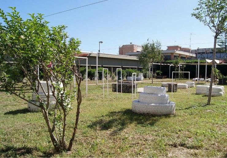 Area colloqui all'aperto per detenuti e famiglie